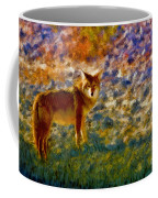 Colorized Death Valley Coyote Coffee Mug