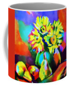 Colors, Pears And Flowers Coffee Mug