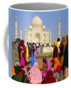 Colorful Saris At Taj Mahal Coffee Mug