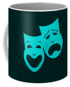 Comedy N Tragedy Aquamarine Coffee Mug