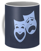 Comedy N Tragedy Cyan Coffee Mug