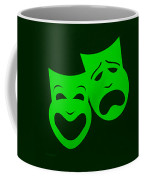 Comedy N Tragedy Green Coffee Mug
