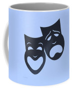 Comedy N Tragedy Neg Cyan Coffee Mug