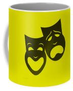 Comedy N Tragedy Neg Yellow Coffee Mug