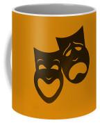 Comedy N Tragedy Orange Coffee Mug