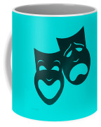Comedy N Tragedy Turquoise Coffee Mug