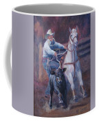Comin At Ya      Calf Roping Painting Coffee Mug