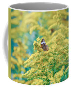 Common Buckeye Butterfly Hides In The Goldenrod Coffee Mug