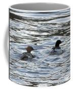 Common Merganzer Pair Coffee Mug