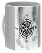 Compass-black Coffee Mug