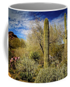Competing Giant Cacti Coffee Mug