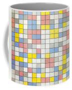 Composition With Grid Ix Coffee Mug