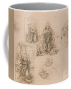 Compositional Sketches For The Virgin Adoring The Christ Child Coffee Mug
