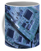 Computer Boards And Chips Lie In A Pile Coffee Mug