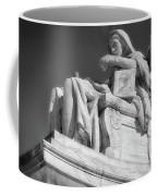 Comtemplation Of Justice 1 Bw Coffee Mug
