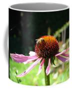 Cone Flower And Honey Bee Coffee Mug
