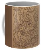 Cone Flowers And Daylily Coffee Mug