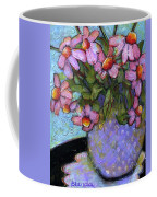 Coneflowers In Lavender Vase Coffee Mug by Blenda Studio