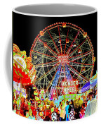 Coney Island Magic In Neon Coffee Mug
