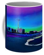Coney Island Parachute Jump And Beach Coffee Mug