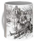 Confederate General John Brown Gordon Assists Wounded Union General Francis Channing Barlow Coffee Mug