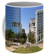 Confederate Monument With Buildings Coffee Mug