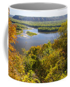 Confluence Of Mississippi And Wisconsin Rivers Coffee Mug