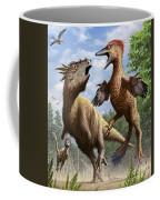 Confrontation Between Pectinodon Coffee Mug