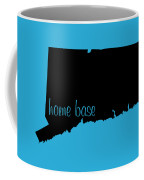 Connecticut Is Home Base Black Coffee Mug