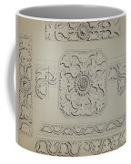 Connecticut-type Hadley Chest-detail Of Central Panel Coffee Mug