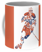 Connor Mcdavid Edmonton Oilers Pixel Art 6 Coffee Mug