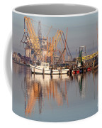 Construction Of Oil Platform With Boats Coffee Mug