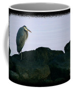 Contemplating Heron Coffee Mug