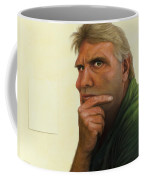 Contemplating The Blank Page Coffee Mug by James W Johnson