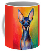 Contemporary Colorful Chihuahua Chiuaua Painting Coffee Mug