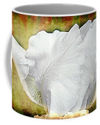Contemporary White Iris Coffee Mug