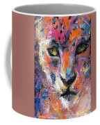 contemporary Wildlife painting cheetah leopard  Coffee Mug