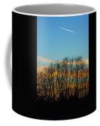 Contrail At Dusk Coffee Mug