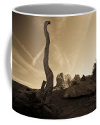 Contrails And Driftwood Coffee Mug