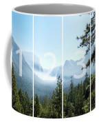 Controlled Burn Of Yosemite Panoramic Map Coffee Mug