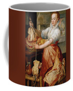 Cook With Chicken. In The Background Christ With Mary And Martha Coffee Mug
