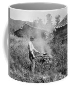 Cooking Over A Campfire Coffee Mug