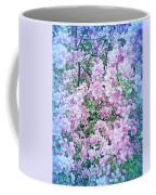 Cool Blue Apple Blossoms Coffee Mug