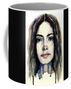 Cool Colored Watercolor Face Coffee Mug