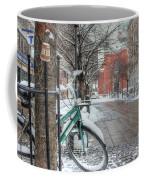 Copenhagen In The Winter.a Lonely Bike Coffee Mug