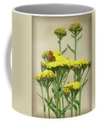 Copper On Yellow - Butterfly - Vignette 2 Coffee Mug