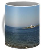 Coquet Island And Lighthouse Coffee Mug