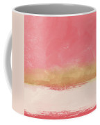 Coral And Gold Abstract 1- Art By Linda Woods Coffee Mug