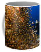 Coral Reef And Diver  Coffee Mug