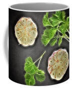 Coriander And Garlic Still Life. Coffee Mug